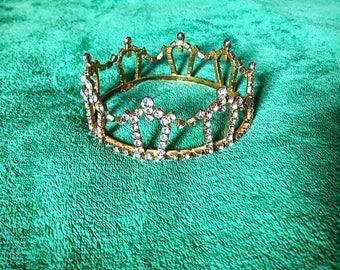 1950s Rhinetone Gold Delicate Faerie Princess Formal Tiara