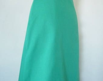 Odette skirt 100% cotton solid grass green