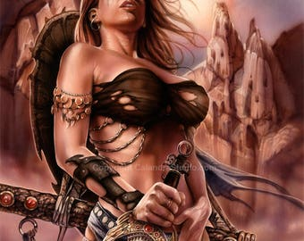 Barbarian Artist Signed 11x14 Print