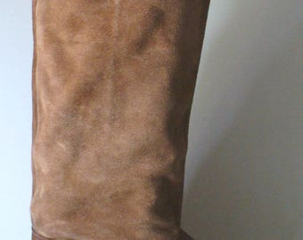 Vintage Made in Italy Suede & Leather   Boots Size 8 M US