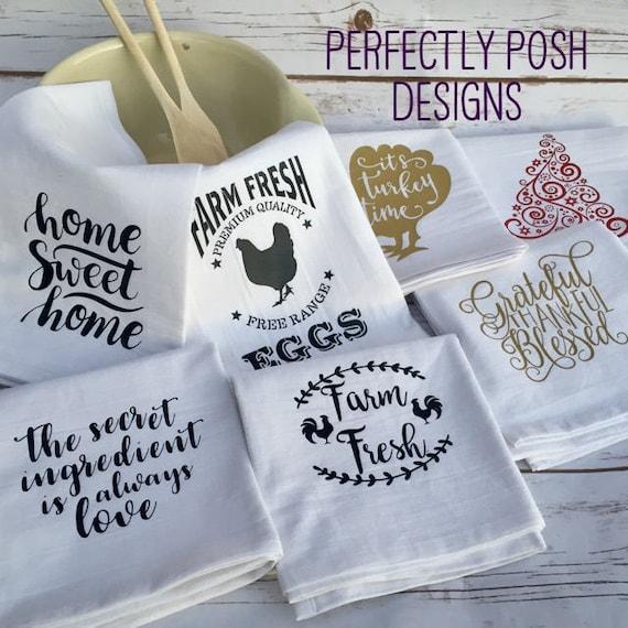 Flour Sack Towel Heat Transfer Vinyl Quotes And Designs