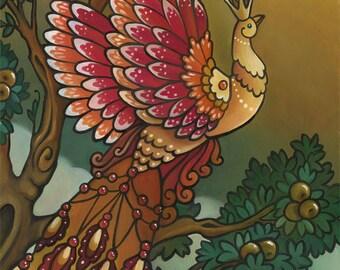 Firebird 9x12 Oil Painting Russian Fairy Tales