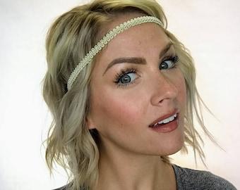 The Ashley - Natural Boho Forehead Headband