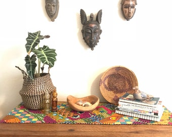Vintage West African tribal mask collection
