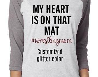 wrestle shirt, wrestle mom shirt, wrestle, wrestling mom, wrestling, glitter shirt, mom shirt, wrestling shirt, wrestling mom tee