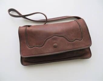 Vintage Leather Purse Tooled Southwestern Shoulder Bag