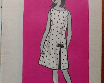 "Vintage Girl's Dress Pattern Size 10 Anne Adams Mail Order from ""The Oregon Journal"