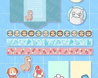 Kawaii Animals DIGITAL STATIONARY