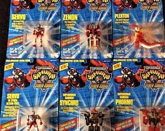 Playmates 1994 Samurai Syber-Squad 10 Card Assortment Action Figures MOC