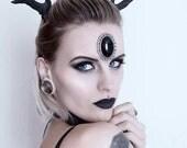 Black Medium Deer Antlers Headband