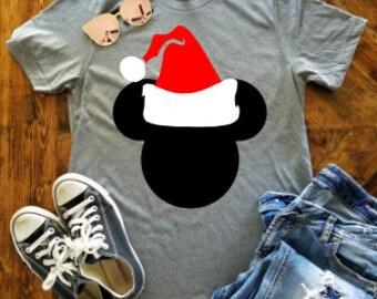 Mickey Christmas Shirt / Disney Christmas Shirt / Disney Santa Hat / Mickey's Very Merry Christmas Shirt