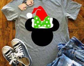 Minnie YOUTH Christmas Shirt / Disney Christmas Shirt / Disney Santa Hat / Mickey's Very Merry Christmas Shirt / Minnie Santa Hat