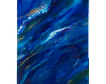 Abstract Resin Painting - Swallowed By The Sea
