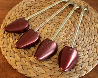 Set of FOUR ~ Vintage Nevco JAPAN Metal Ladies Shoe 'Treets'/Stretchers ~ Great Condition!