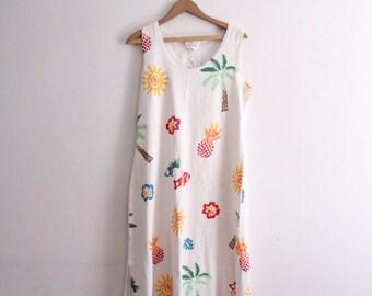 Tropical Heat Arty 90s Maxi Dress