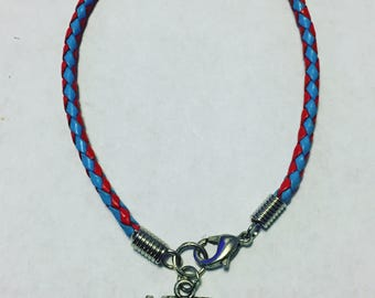 USA Braided Leather Bracelet