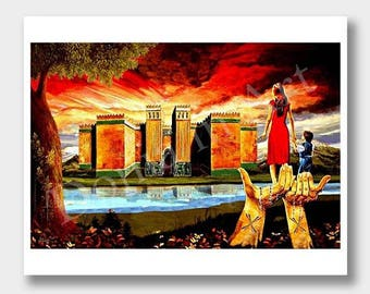 Assyrian Art, Mother Assyria, Art Print, Digital Art, International Painting, International Art, Digital Artwork, Digital Art Print, Assyria