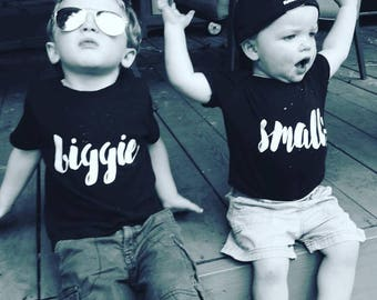 Biggie Smalls - Big Brother Shirt - Big Brother Shirts - Big Sister Shirt - Shirt Set Siblings - Big Sister - Sibling Shirts - Big Brother