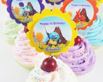 Personalized Wallykazam Mix 'n Match Birthday Cupcake Toppers