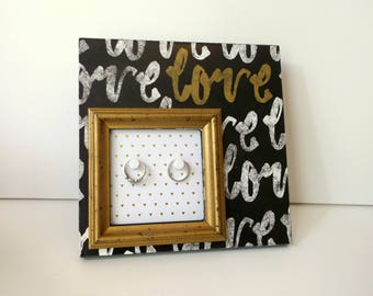 his and hers ring frame, wedding ring holder, engagement gift, shabby chic decor, best selling items, hers and hers jewelry holder, bridal