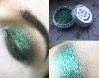 Banshee Book Club - metallic forest green vegan eyeshadow