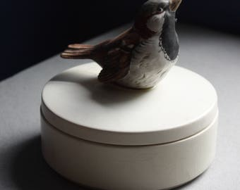 Hummel by Goebel Candy Box with Sparrow, Made in West Germany, 1969