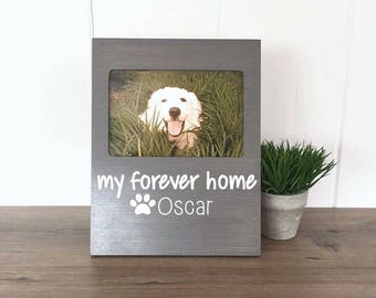 Personalized Dog Picture Frame, Rescue Dog Gift, Gift for Dog Mom, Dog Memorial, Dog Lover Gift, Forever Home, New Puppy Gift, Dog Adoption