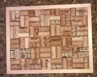 Wine Cork Bulletin Board or Trivet 11 x 14
