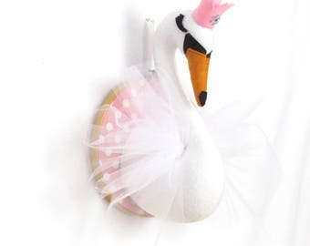 CUSTOM made Swan Faux Taxidermy Bust