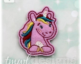 Unicorn D Feltie Digital Design File - 1.75""