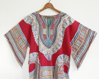 VTG Cotton Top // Ethnic // Print // Colorful // Bohemian