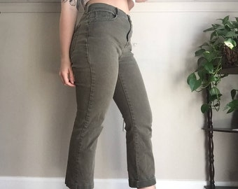 vintage high waisted green pants