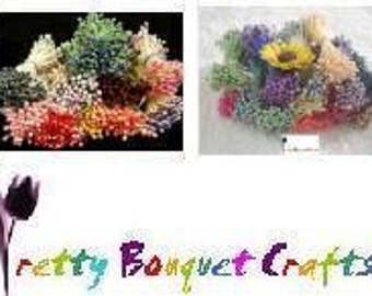 500pcs Mixed Colors Single Tone/ Two Tone Stamens|Sugarcraft|Butterfly Antenna|Gumpaste|Floral Crafting