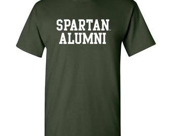 Michigan State Spartans Block Alumni T-Shirt