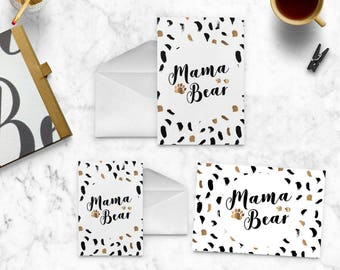 Mama Bear | Mama Bear Note Card | Mama Bear Greeting Card | Mama Bear Printable | Mama Bear Card | Mama Bear Gift | Printable PDF