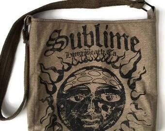 Sublime Bag • Sublime Tee Shirt Bag • Tshirt Purse • Upcycled Band Tee • Crossbody Bag • Sublime Gift