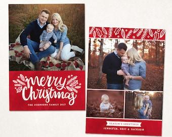 Photoshop templates for photographers von otostudio auf etsy for Photoshop weihnachtskarte