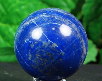Lapis lazuli sphere hand carved  hand polished mineral specimen  365 Grams from Afghanistan