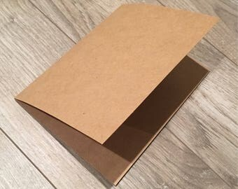 Kraft Card Stock Blank Cards - 6.5x5 Brown Card Stock Cards