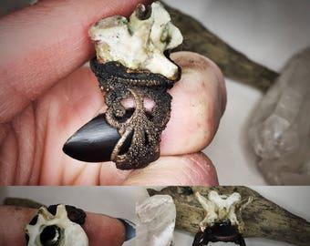 Bone/ Ring / Electroformed / Oddity / Taxidermy/ Vertebra