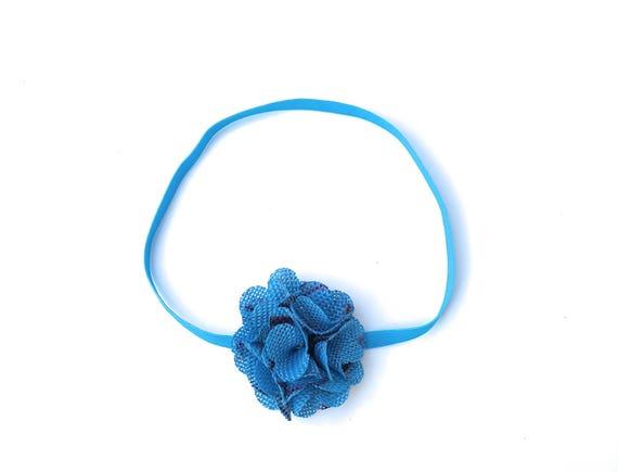 Blue Headband, Newborn Headbands, Easter Headband, Flower Headband, Baby Headband Baby, Headbands, Newborn Headband