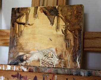 Original Oil Painting on Wood - Guardian
