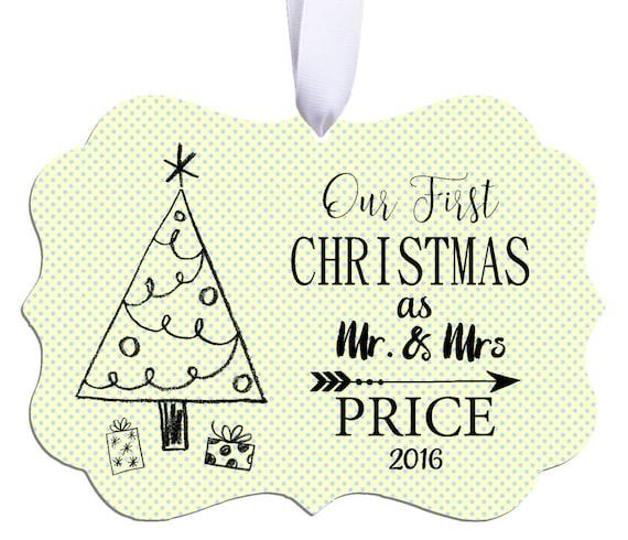 Baptism Ornament Christmas Ornament By Ryellecreations On Etsy: Wedding Ornament Wedding Christmas Ornament Wedding Gift