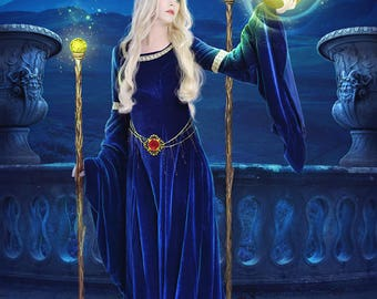 Two of Wands Tarot digital art print by Enchanted Whispers