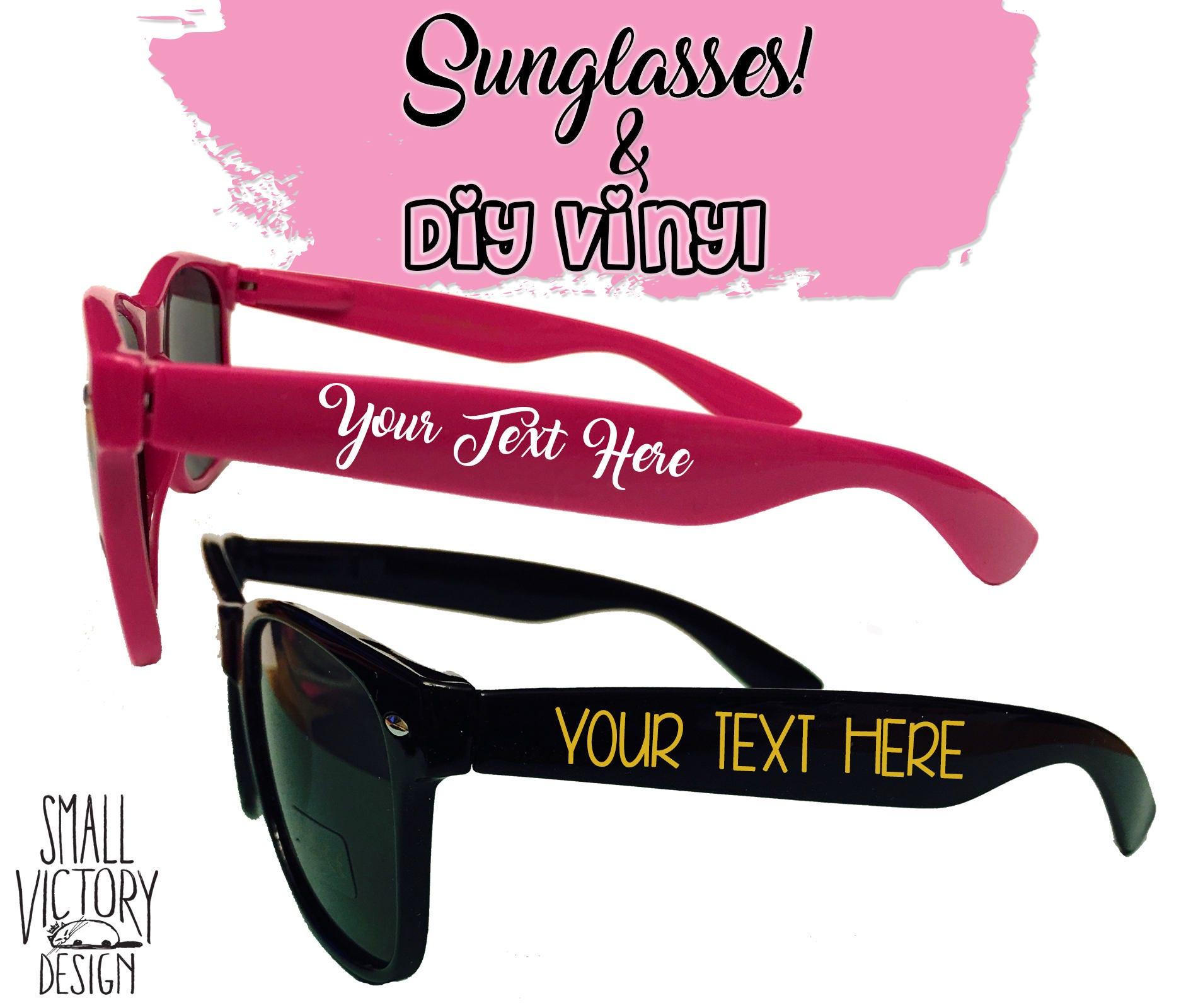 Custom Decal, Personalized Sunglasses, DIY Vinyl Decals, Custom ...