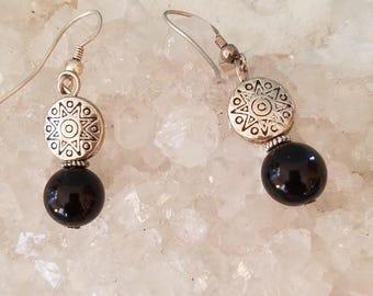 Handmade Black & Silver Tone Earrings, Tribal, Boho, Southwestern, Native American Inspired, Dangle And Drop, Chic Earrings