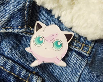 Pokemon 90s Jigglypuff Fairy Nintendo Gameboy Ash Ketchum Pin Badge