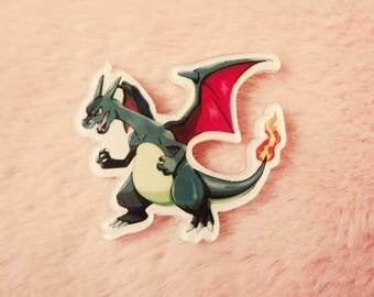 Pokemon 90s Charizard Nintendo Gameboy Ash Ketchum Pin Badge