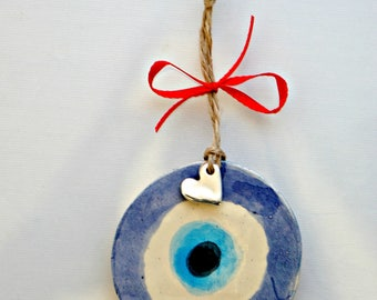 Evil eye wall hanging - evil eye charm - Greek evil eye -evil eye décor - nazar boncuk - evil eye for good luck -