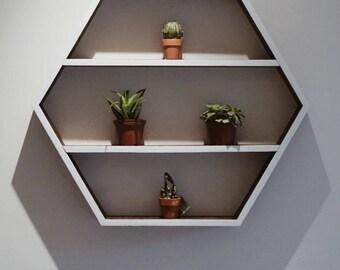NOTAN Hexagon Shelf / Hexagon Shelf / Geometric Shelf